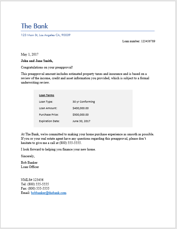 personal letter for buying a house example