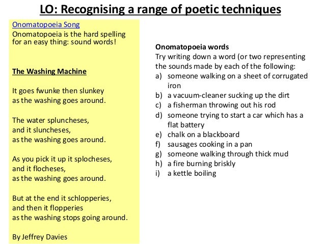 sound devices in poetry example