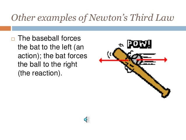 example of third law of motion with pictures