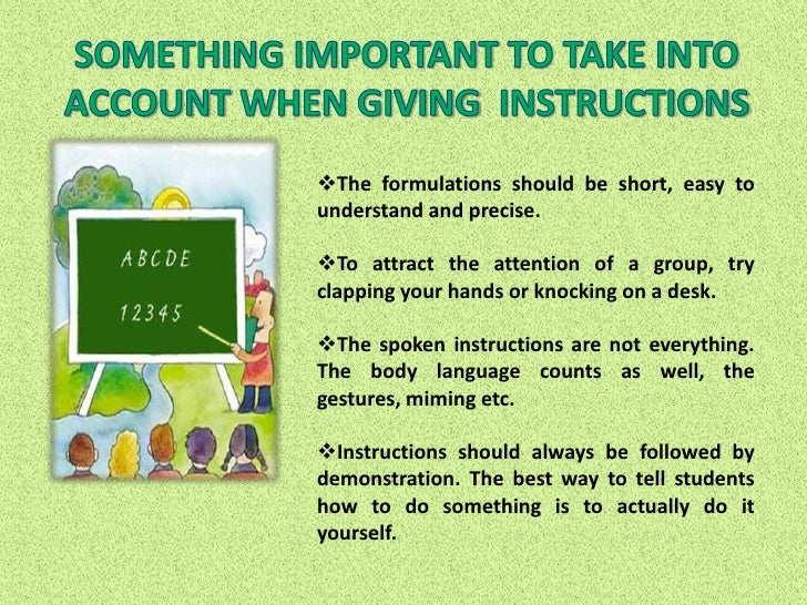example of giving instruction paragraph
