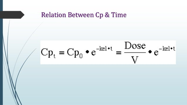 elimination rate constant calculation example