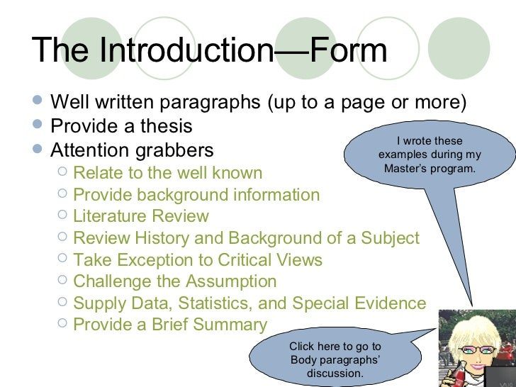 example of paragraph with introduction body and conclusion