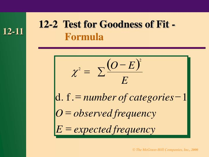 chi square goodness of fit test example problems pdf