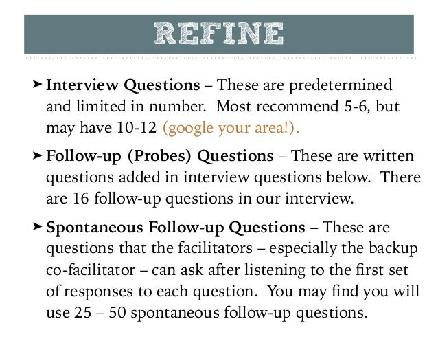 focus group interview guide example