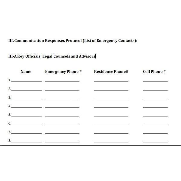 communication management plan example in construction
