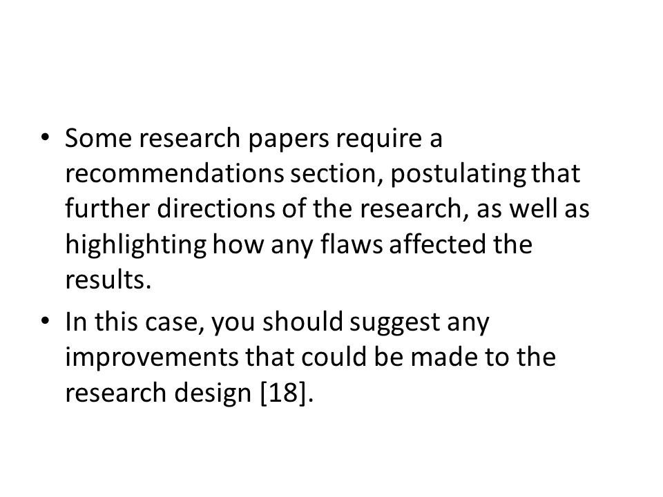 example of recommendation in research paper