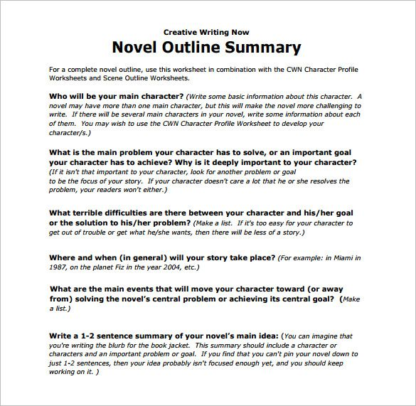 how to write a summary paragraph example