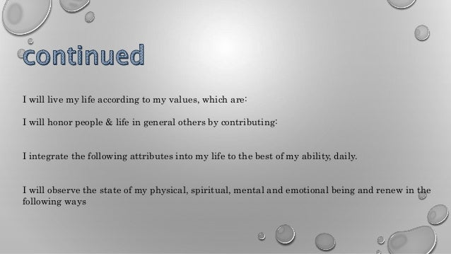 personal mission statement example famous people