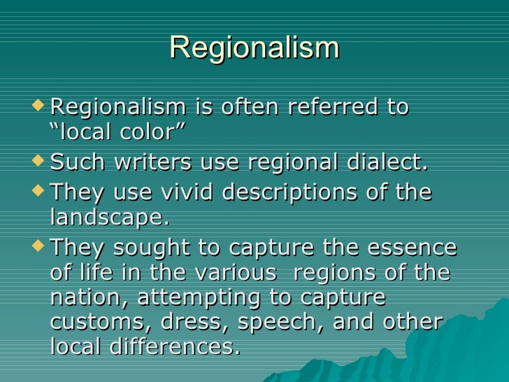 local color literary term example