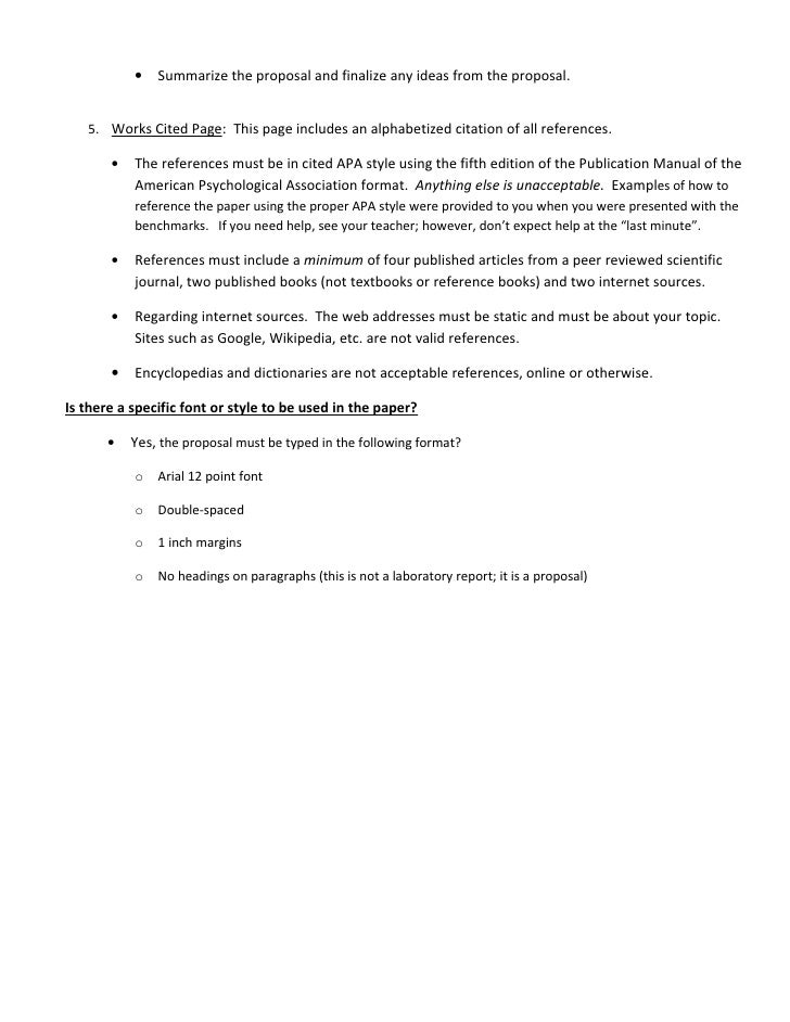 example for an experiment proposal