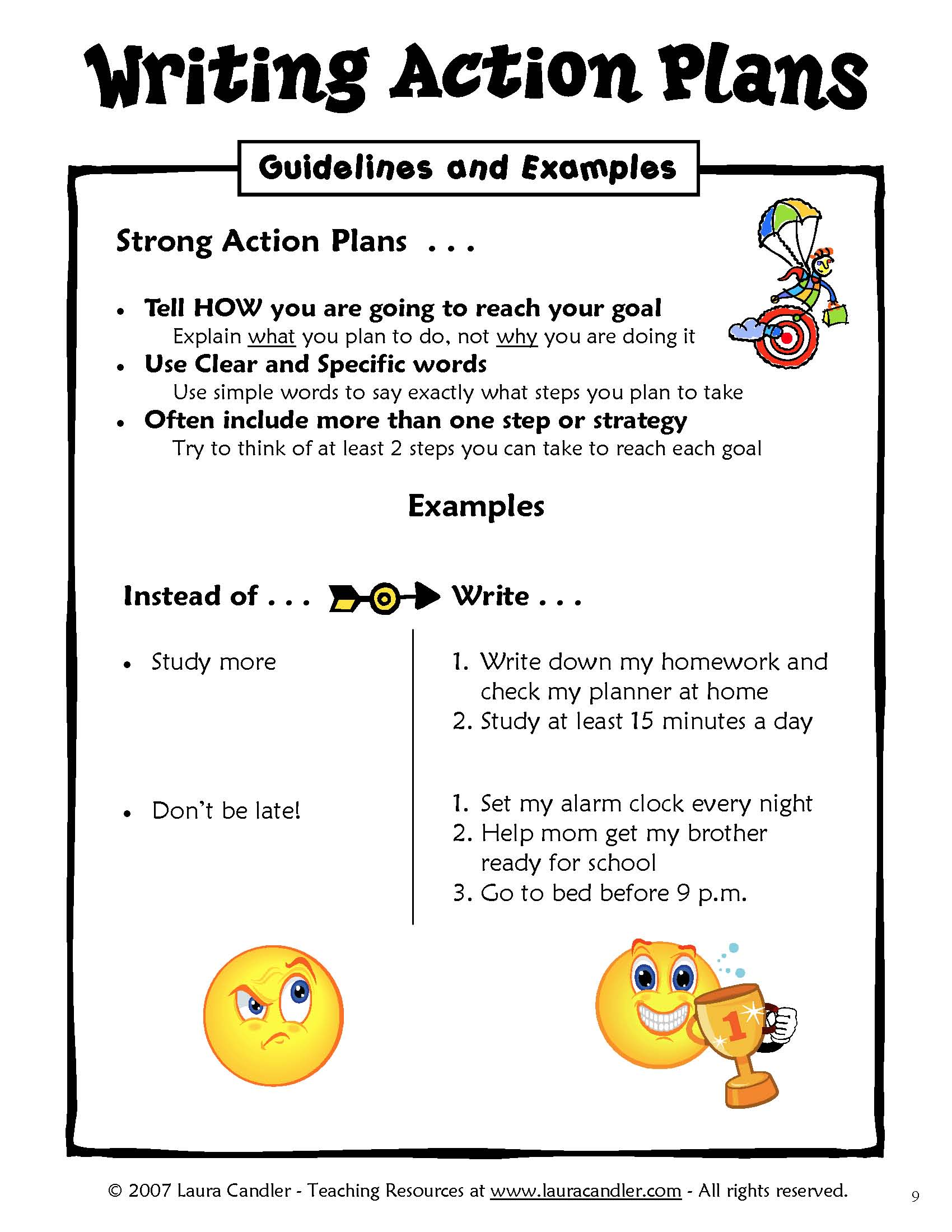how to write a plan of action example