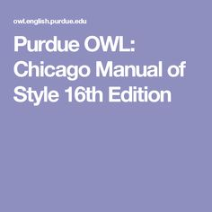 chicago style paper example purdue owl