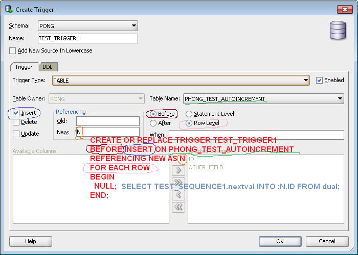 oracle trigger before insert example