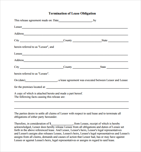 commercial lease termination notice example
