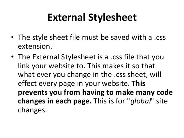 internal style sheet in html example