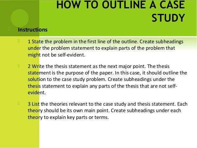 thesis statement example for case study