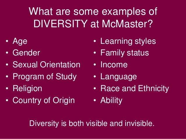 example of respecting diversity in the workplace
