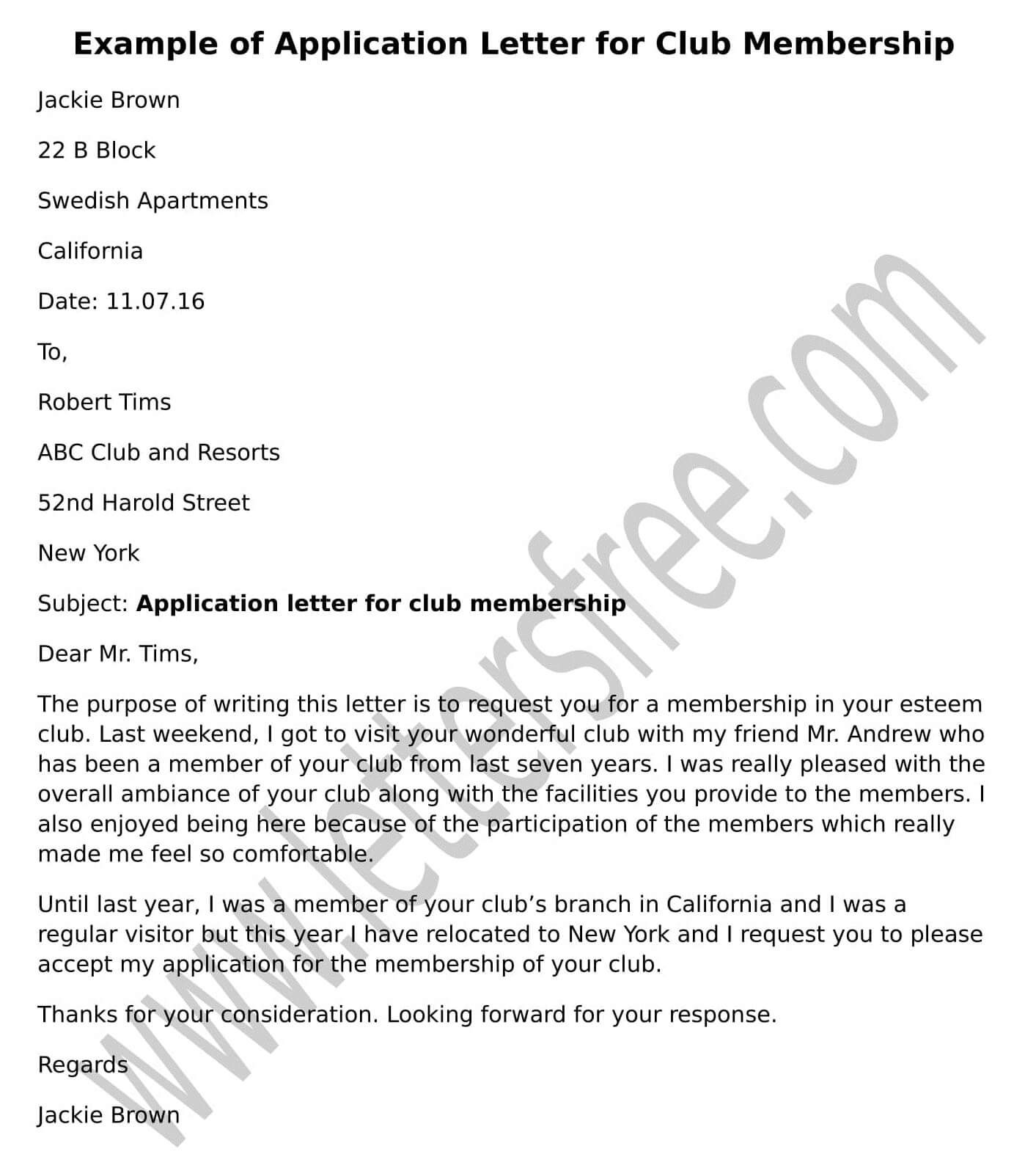 confirmation of registration for college letter example