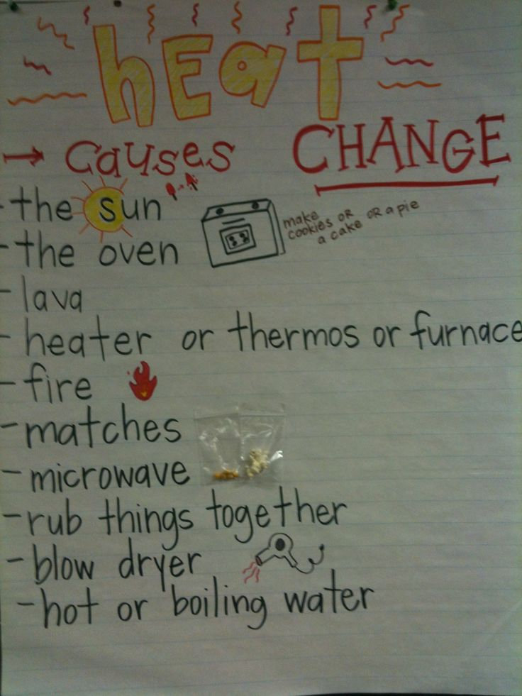 example of chemical change that heats up