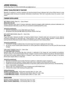 high school teacher cv example