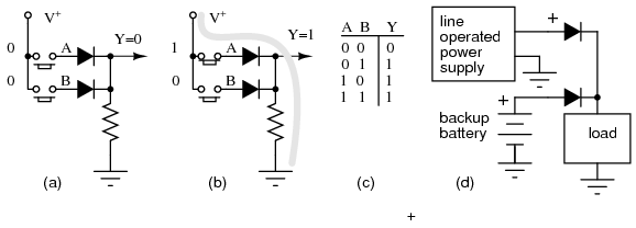 battery and ac voltage source breadboard example
