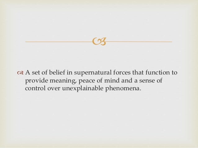 example of animism in psychology