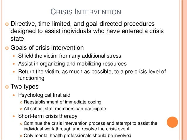 crisis intervention abc model example of college assignment