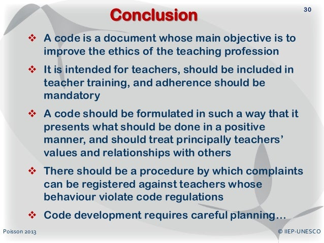 code of conduct example for students