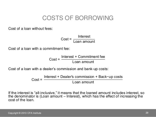 commitment fee line of credit example