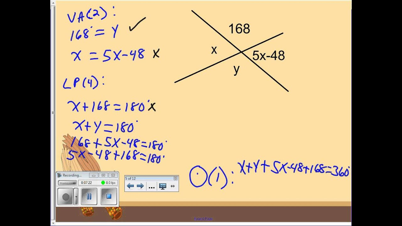 linear equation definition and example