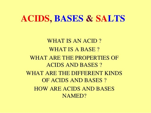 explain acid properties with example