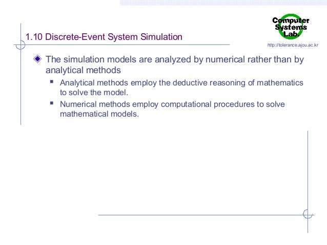 discrete event simulation example problems
