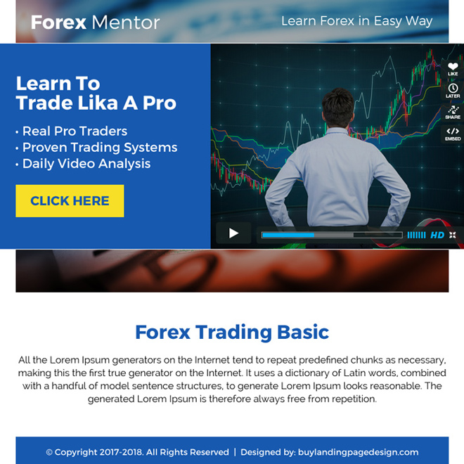 example of binary option landing page