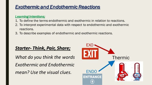 example of exothermic and endothermic reaction