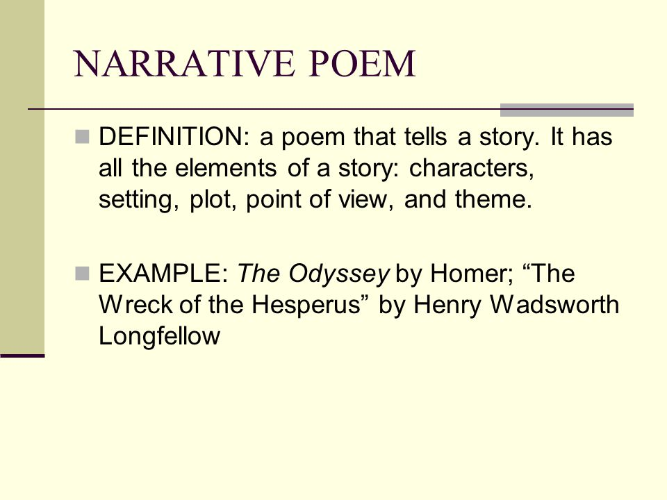 example of short story with setting characters and plot