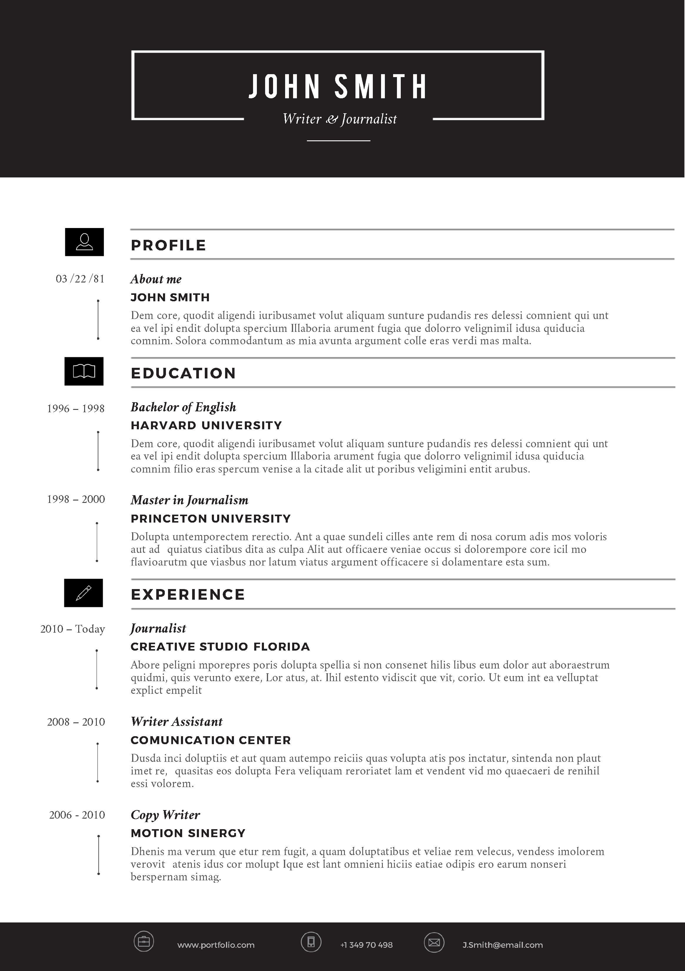 free example of resume download