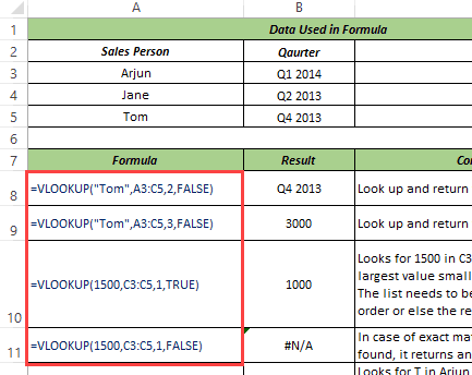 match formula in excel 2007 with example
