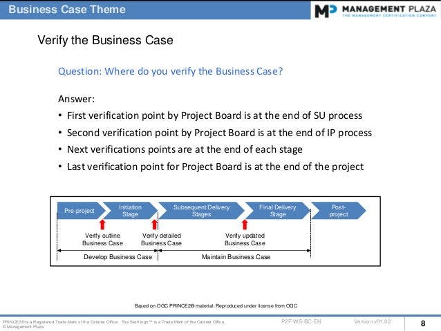prince2 benefits review plan example