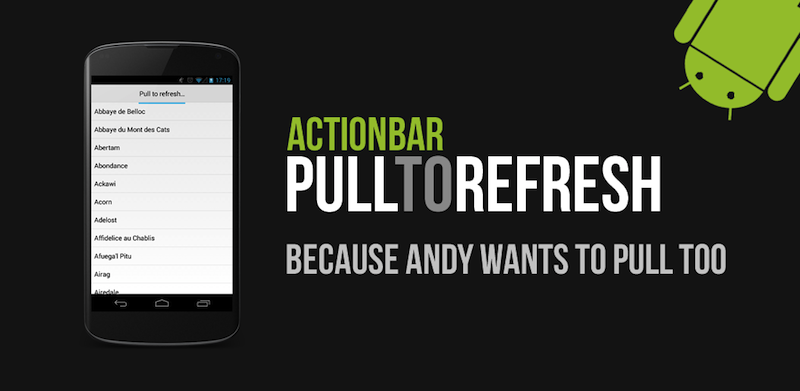 pull to refresh android example