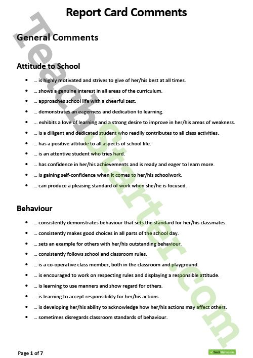 report writing example for school