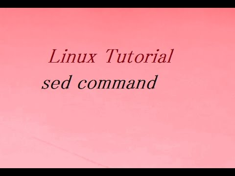 sed commands in unix with example