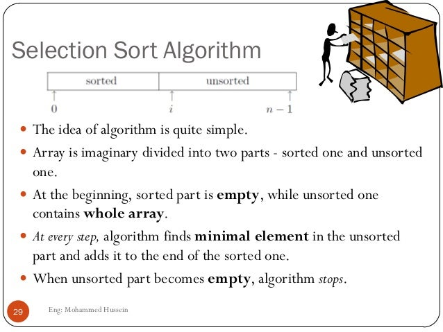 selection sort explanation with example step by step