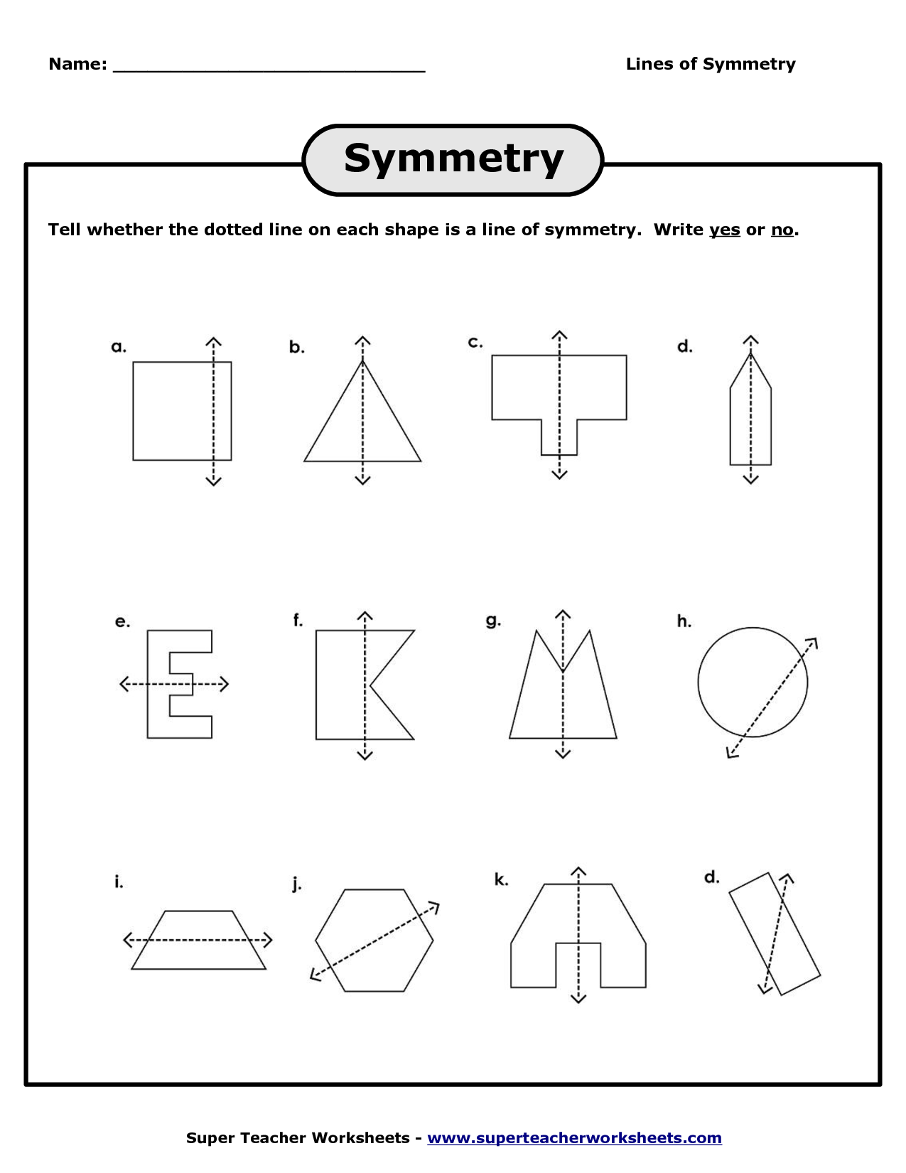 what is line of symmetry example